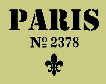 STENCIL Vintage Paris Sign 10 x 13