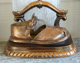 Vintage Bronze Child's Shoe
