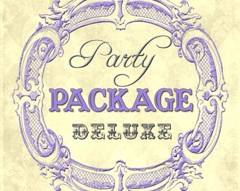 DIY Printable Party Package Made To Match Any Invitation In The Shop -- DELUXE PACKAGE