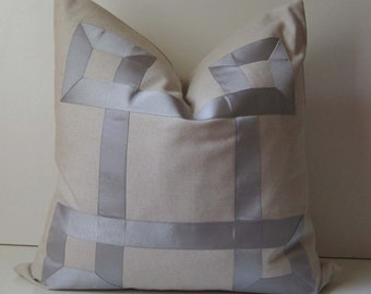 Natural Cotton Pillow 22 Inch Decorative Pillow By