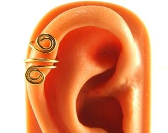 Ear Cuff Upper Cartilage Spiral Gold