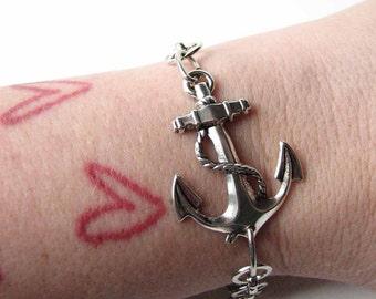 SALE anchor bracelet - nautical sailor style jewelry