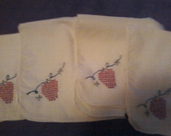 cross stitch napkins set of 4
