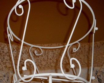 VINTAGE French Paris Apartment Chic Scroll Plant Stand