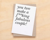 Wedding / Engagement / Anniversary Card - for the fabulous couple.