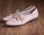 1980s cotton candy pink oxfords size 8