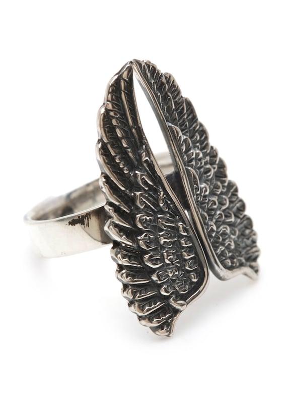 Angel Wing Ring Sterling Silver Wings Rings from Carpe Diem Jewelry