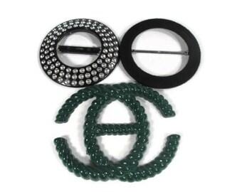 International Sash Belt Buckles - Set of 3