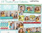 INSTANT DOWNLOAD - New Years Facebook Timeline Cover Collection - 5 Custom templates for FB Timeline Covers