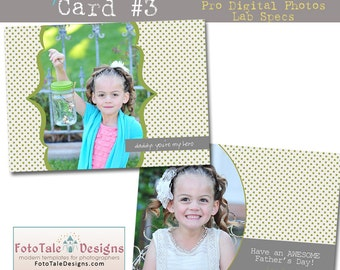 INSTANT DOWNLOAD My Hero Card 3- custom photo templates for photographers on WHCC, ProDigitalPhotos and Millers Lab Specs