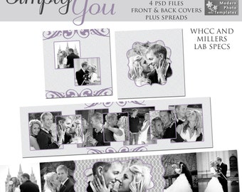 Simply You 3x3 Mini-Accordion Album- custom photo templates for photographers on WHCC, Miller's Lab and ProDigitalPhotos Specs
