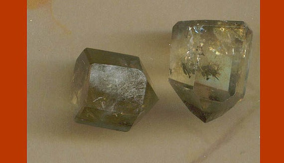 LAST Two Smokey Quartz Crystal Points for your Creations - Use for Earrings, Pendants, Necklaces.