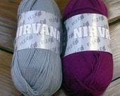 Bamboo Yarn, Feza Nirvana 1 Skein Soft, Silky, Sport, DK, Choose Solid, Maroon, Grey, White or Brown