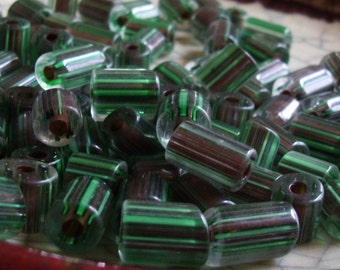 Forest - Cane Glass Beads - 20 beads