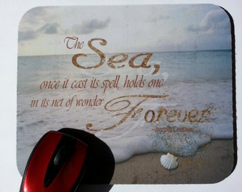 Mouse Pad - The SEA Cast its Spell - Beach Cottage
