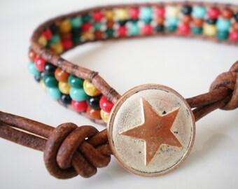 Friendship Bracelet Czech Glass Southwestern Colors