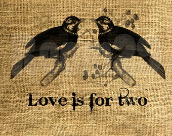 INSTANT DOWNLOAD - Love Is For Two Vintage Illustration - Download and Print - Image Transfer - Digital Sheet by Room29 - Sheet no. 896
