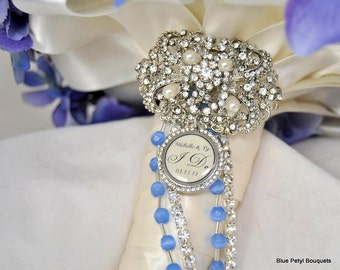 Wedding Bouquet charm, SMALL Charm, Bridal Bouquet Charm with custom photo