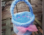 Baby Blue Crochet Easter Basket