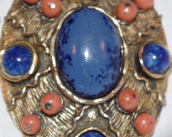 Wow - Fabulous Large Retro Pendant and chain - c1960s