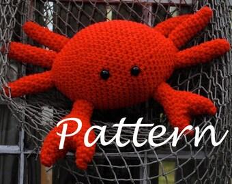Woolie Crab Hand Crocheted Plush PDF Patten