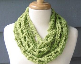 PATTERN S-004 / Crochet Pattern / McKenna Infinity  ... cotton/worsted 200 yards