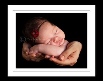 red small flower headband, red baby headband, small flower headband, newborn photography prop