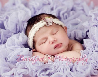 newborn headband, baby headband, Small Flower Headband, itty bitty, photo prop, purple