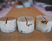 12 Birch Bark Place Card Holders for Weddings, Holiday Table Decor Bridal Showers, Parties Rustic Shabby Chic Cottage