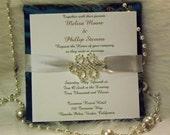 Wedding Invitation - Silk  Wedding Invitation - Kimono Invitation - -  Couture Wedding