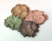 Earthen // CHOOSE YOUR COLOR //  Mineral Eyeshadow  Vegan Organic Mineral Makeup  Neutral colors - All over color, highlight, natural color