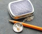 teacher apple necklace - teacher gift - teach. love. inspire.