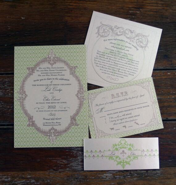 Fleur De Lis Wedding Invitations Trendy New Designers