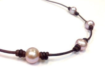 SALE - Pearl and Leather Jewelry - PimJai