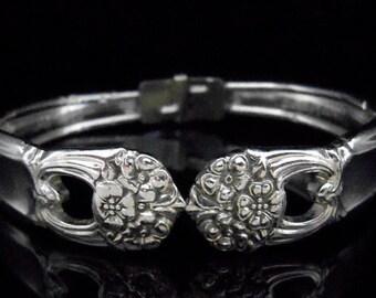 Spoon Bracelet, Antique Silverware Jewelry, Ornate Silverware, Eternally Yours SMALL fits 5-6 inch wrist