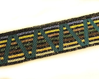 Walk The Line Peyote Bracelet