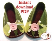Shoes Sewing Pattern Felt Baby Pomegranate Ballerina - PDF - printable sewing pattern for sizes Newborn to 24 months