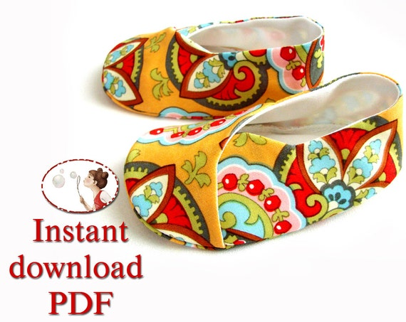 Children S Kimono Shoes Easy Sewing Pattern