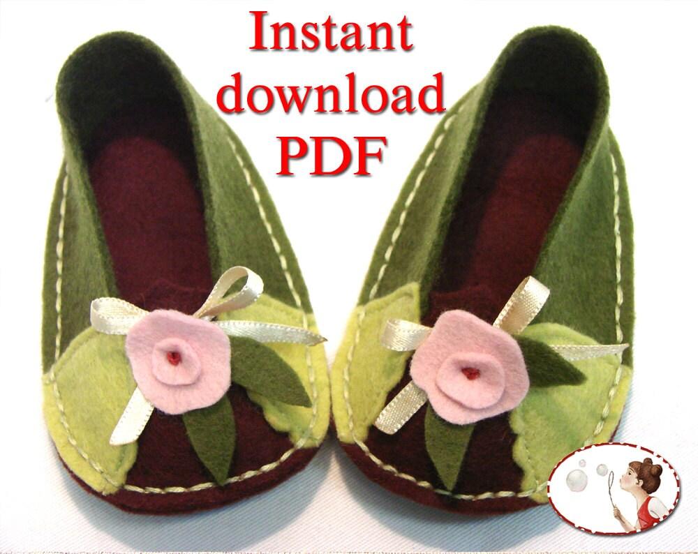Purl Soho Felt Baby Shoes