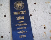 1938 Blue Ribbon Poultry Show Springfield Massachusetts Free shipping to USA vintage chickens
