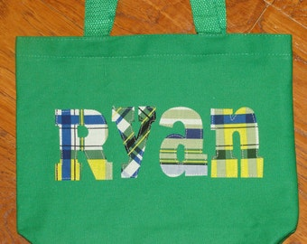 """Boy's Personalized Library Tote (8.5"""" x 11"""")"""