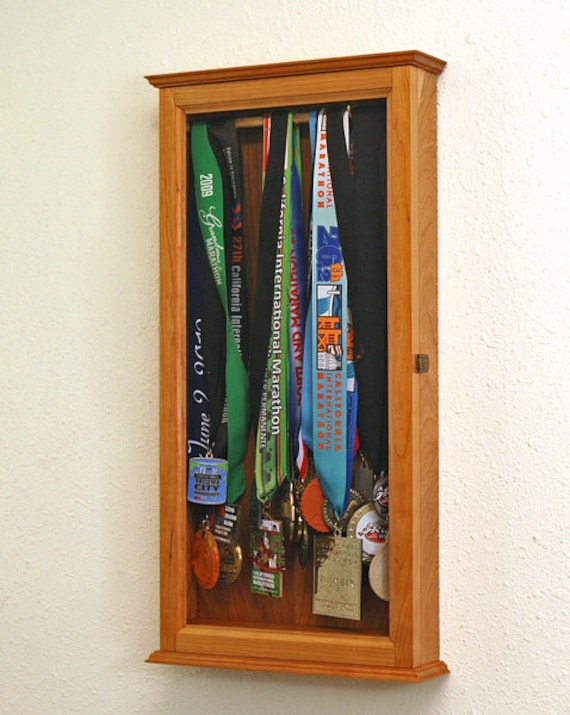 Marathon Sports Medal Display Case Wall Cabinet From