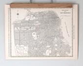 San Francisco 1930s Map | Antique California City Map