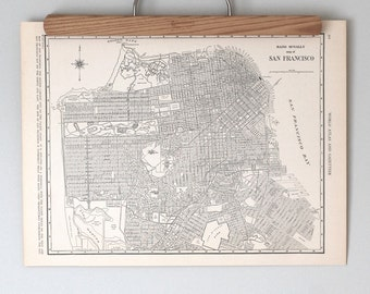 San Francisco 1930s Map | Antique California City Map