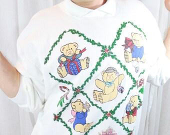 90s Christmas Bear Sweatshirt