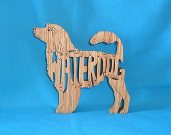 Portugese Waterdog Handmade Scroll Saw Wooden Puzzle