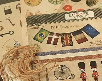 Sticker Set-DIY Postcard Set-Deco Stickers-Japanese Sticker Set-Super Cute-Organization-Decorating your stuff