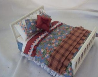 Dolls House Luxury Double Bed - Mabel