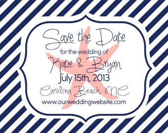 "Beach Wedding Nautical Theme Save the Date Large Magnets - 4"" x 5"" Large Save the Date Magnets"