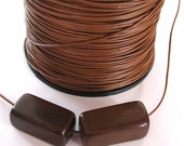 Sienna Brown Pleather, Stringing Material, 5 yards, EcoBeads